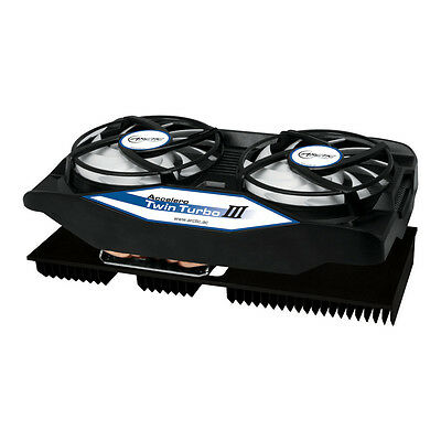 Arctic Accelero Twin Turbo III, AMD and nVidia Graphics Card 250 Watt Cooler