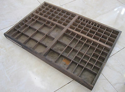 Lovely vintage FRENCH PRINTERS TRAY - FREE POST - Old letterpress drawer display