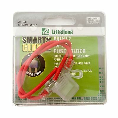 Littelfuse 0FHM0001XPGLO In-Line Fuse Holder for Smart Glow MINI Blade Style ...