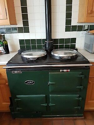 Aga, Pre 1974, Good Working Condition, Gas Fuelled 2 Oven Cooker, Green