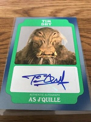 Star Wars Rouge One Mission Briefing Tim Dry Green Autograph Card As J'Quille