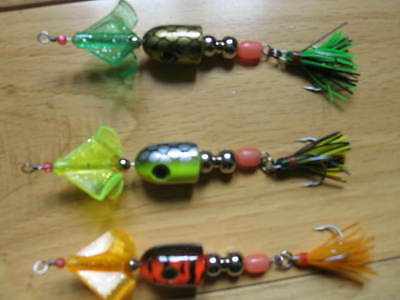 3 fox buzz bug surface lures poppers spinners fishing