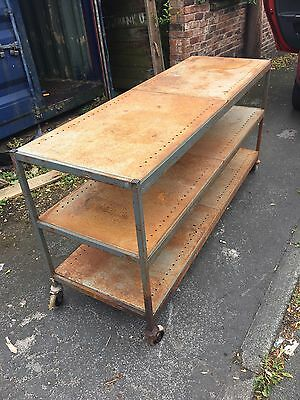 A Vintage Workbench Industrial large kitchen Island