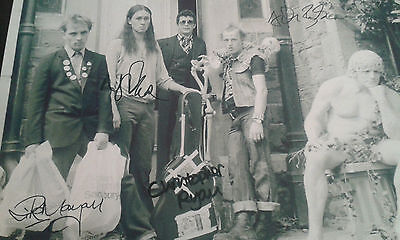The Young Ones Cast Signed Poster. Bbc Comedy. Rik Mayall. Ade Edmondson.
