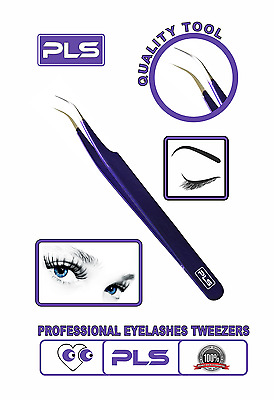 Pincée -Eyelashes Curved Pointed Tweezer, Eyelashes Extension Applicator Nipper