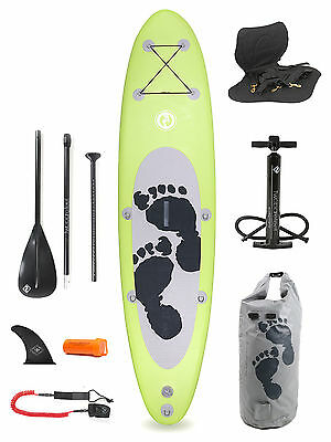 """Entradia II Lime 10'10 x 4"""" Inflatable Paddle Board Deluxe SUP Package"""