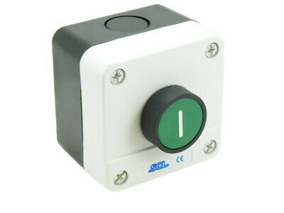 Pushbutton Station Green (I) With 1No Contact Ip65