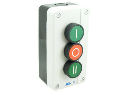 Pushbutton Station Forward Stop Reverse Fitted With 1No 1Nc 1No Contacts Ip65