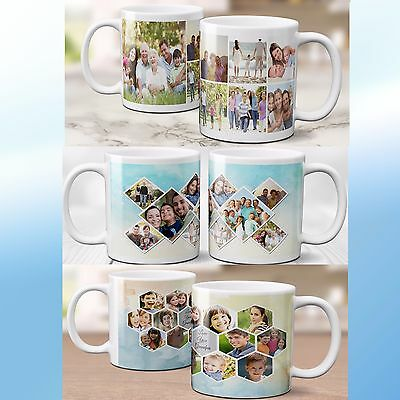 Personalised Photo Text Collage Mug Customised Gift Birthday Freshers Family