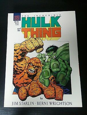 Incredible Hulk and the Thing  Marvel Graphic Novel (1987, Marvel) 1st Print