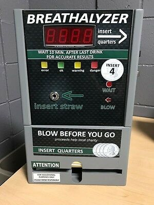 Coin Operated Breathalyzer Vending Machines-EXCELLENT CONDITION