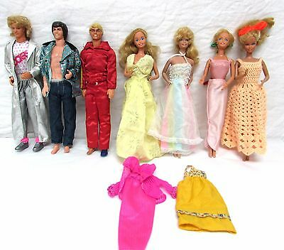 Lot of 7 Vintage Barbies dolls 1960s and 1979