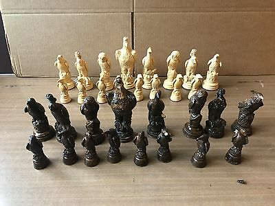 Chess Set (Possibly Vintage), Beautiful Pieces, Eagle, Owl