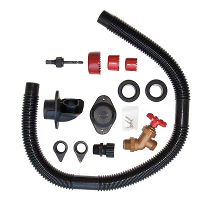 EarthMinded DIY Rain Barrel FlexiFit Diverter + Parts Kit Plastic Black RBK-0001