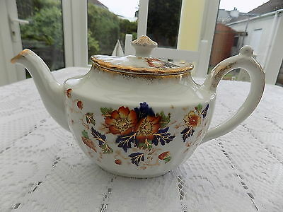 Vintage Collectible Louise  John Maddock & Sons England Floral Tea Pot