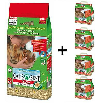 CAT ´s Best Eco Plus 60 L (1x40 litre below 4X5 LITRE) (per Liter)