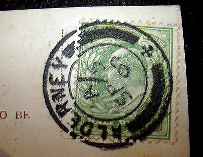 Alderney double circle with cross at base postmark on PC The Garden Rocks  A679
