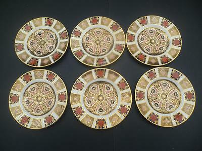 A SET OF 6 1ST QUALITY SIX ROYAL CROWN DERBY OLD IMARI 1128 6.25inch TEA PLATES