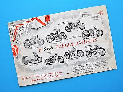 1962 Harley XLCH Sportster FL FLH Duo Glide Panhead Motorcycle Accessory Catalog