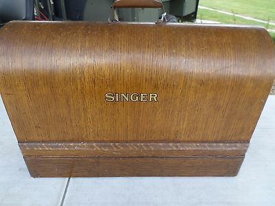 singer 201k Sewing Machine semi industrial with case + extras all working