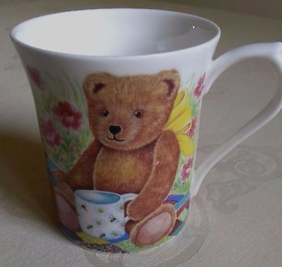 "Queens Fine Bone China ""bear Essentials"" Mug, Looks Unused, Excellent Condition"