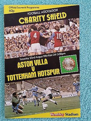 1981 - CHARITY SHIELD PROGRAMME - ASTON VILLA v TOTTENHAM - V.G CONDITION
