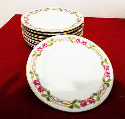 Vintage Wm. Guerin & Co. Limoges France Bread & Butter Plates GueGue Pattern