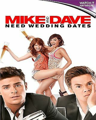 MIKE AND DAVE NEED WEDDING DATES * Digital HD Ultraviolet Code ONLY * 24/7