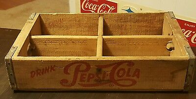 1950's drink pepsi cola 24 bottle crate(Evansville Ind.)