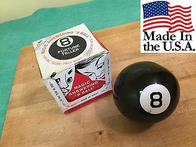 Vintage Magic 8 Ball Alabe Crafts Inc. With Original Box Fortune Teller