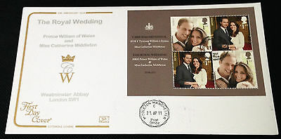 FDC 2011 Royal Wedding Miniature Sheet - MIDDLETON CDS on Cotswold cover