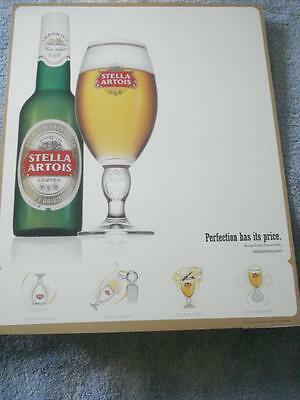 "Never Used 2007 Stella Artois ""perfection Has Its Price"" Poster(20"" X 16"")"