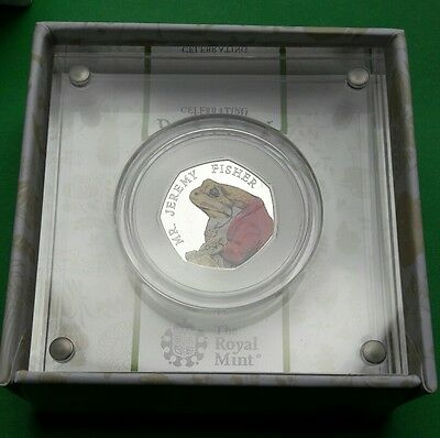 Royal Mint Beatrix Potter Jeremy Fisher 2017 Silver Proof 50p Fifty pence Coin #