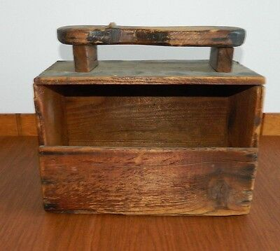 antique HIRES ROOT BEER EXTRACT WOOD SHOE SHINE BOX Pure ~ Food & Drug Act 1906