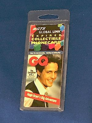 GQ Magazine Prepaid Collectible Phone Card – Hugh Grant on cover