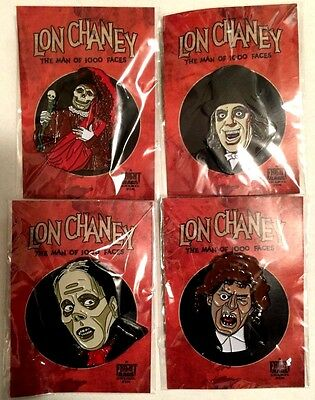 Lon Chaney Enamel pin Collection Set of 4 Man of 1000 Faces/Phantom of the opera