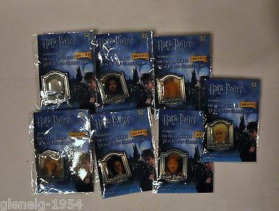 HARRY POTTER OFFICIAL 2004 MOVIE PIN COLLECTION complete set of 7