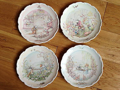 Set Of 4 Wind in the Willows Bone China Plates by Royal Doulton, 1984.