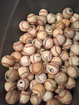 Large LOT of 21 League SYNTHETIC LEATHER practice all weather baseballs