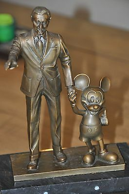 Walt Disney and Mickey Bronze Partners in Excellence Statue, Cast Member Exclusi