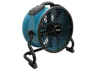 12.75 inch 10- Speed Indoor/Outdoor Plastic Air Mover Fan in Teal Blue Finish