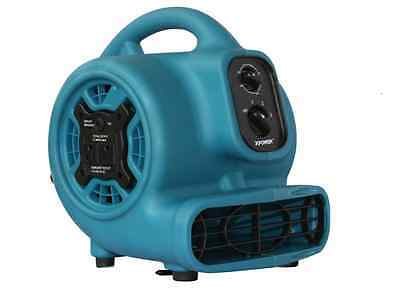 12.8-in 3-Speed 4 Positions Indoor/Outdoor Plastic Air Mover Fan in Blue Finish