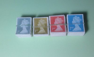 500 (520) Second Class postage Stamps Used Unfranked No Gum