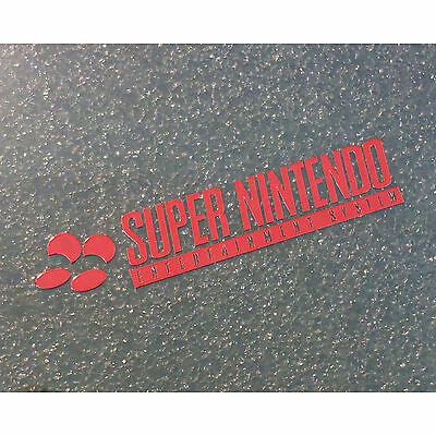 Super Nintendo SNES Label / Aufkleber / Sticker / Badge / Logo 46mm x 9mm [244b]