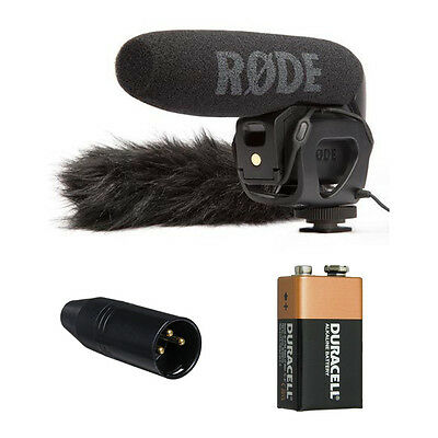Rode VideoMic Pro with Rycote Lyre Shockmount + Deadcat + VXLR and Free 9V