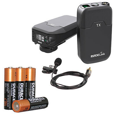 Rode RodeLink Wireless Filmmakers kit with 4 FREE AA batteries