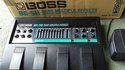 Boss BE-5B Bass multieffects unit Boxed Genuine Boss Power Supply made in Japan