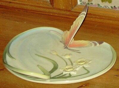 Franz porcelain butterfly plate/tray