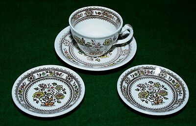 Wood & Sons DORSET cup/saucer and 2 butter pats