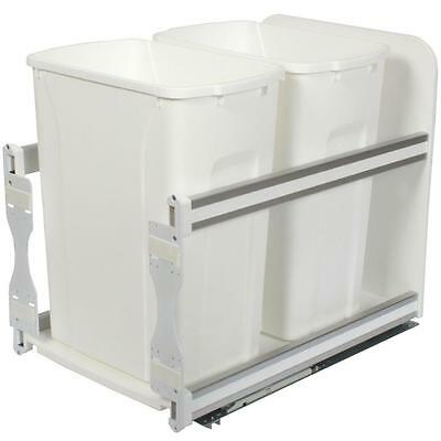 35 Qt 18X18X23 In Cabinet Double Top Mount Pull Out Kitchen Garbage Trash